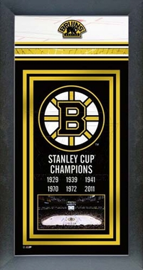 Boston Bruins Framed Stanley Cup Championship Banner -