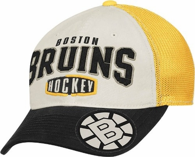 Boston Bruins Garment Washed Meshback Flex Slouch Hat
