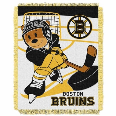 Boston Bruins Jacquard BABY Throw Blanket