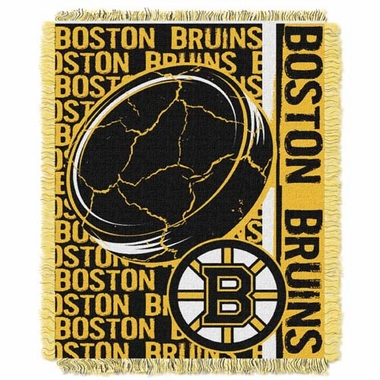 Boston Bruins Jacquard Woven Throw Blanket