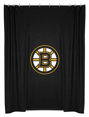 Boston Bruins Jersey Material Shower Curtain