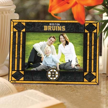 Boston Bruins Landscape Art Glass Picture Frame
