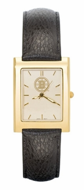 Boston Bruins Men's Gold Rectangular Watch