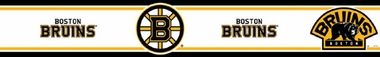Boston Bruins Peel and Stick Wallpaper Border