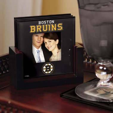 Boston Bruins Photo Coaster Set