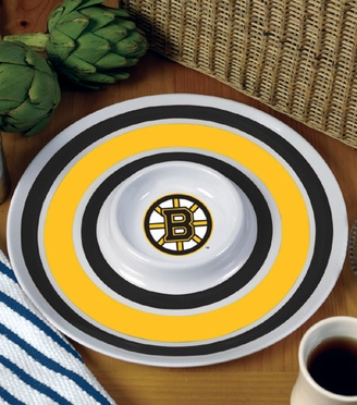 Boston Bruins Plastic Chip and Dip Plate