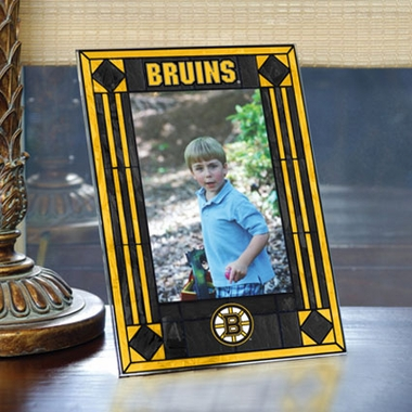 Boston Bruins Portrait Art Glass Picture Frame