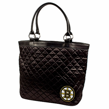Boston Bruins Quilted Tote