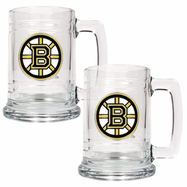 Boston Bruins Set of 2 15 oz. Tankards