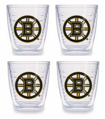 Boston Bruins Set of FOUR 12 oz. Tervis Tumblers