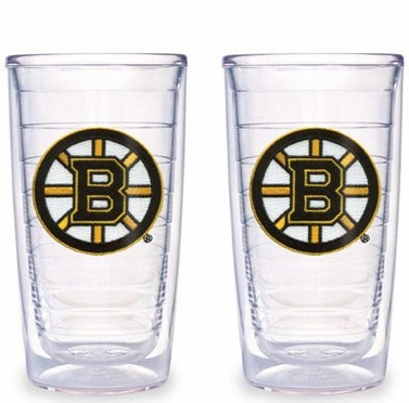 Boston Bruins Set of TWO 16 oz. Tervis Tumblers