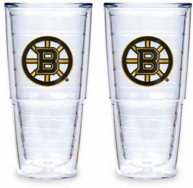 "Boston Bruins Set of TWO 24 oz. ""Big T"" Tervis Tumblers"