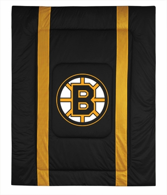Boston Bruins SIDELINES Jersey Material Comforter