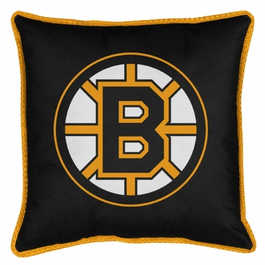 Boston Bruins SIDELINES Jersey Material Toss Pillow