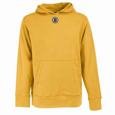 Boston Bruins Mens Signature Hooded Sweatshirt (Alternate Color: Gold)