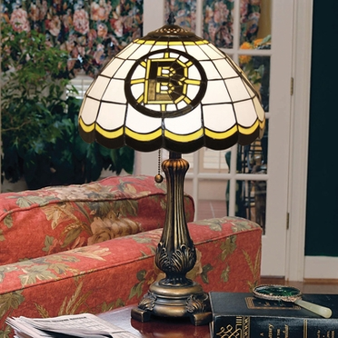 Boston Bruins Stained Glass Table Lamp