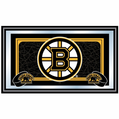 Boston Bruins Team Logo Bar Mirror