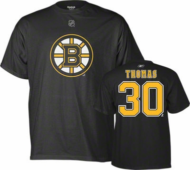 Boston Bruins Tim Thomas Name and Number T-Shirt