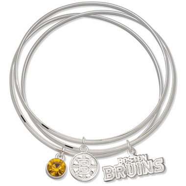 Boston Bruins Triple Bangle Bracelet