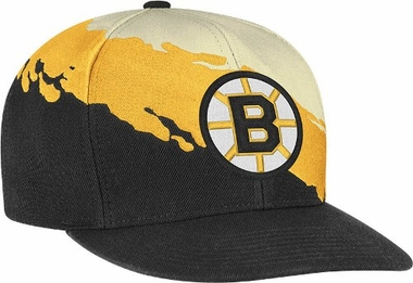 Boston Bruins Vintage Paintbrush Snap Back Hat