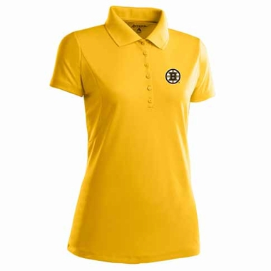 Boston Bruins Womens Pique Xtra Lite Polo Shirt (Alternate Color: Gold)