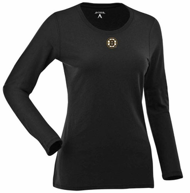 Boston Bruins Womens Relax Long Sleeve Tee (Team Color: Black)
