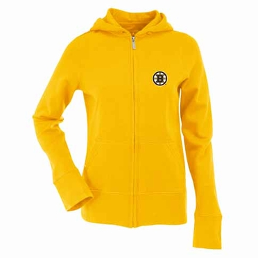 Boston Bruins Womens Zip Front Hoody Sweatshirt (Alternate Color: Gold)