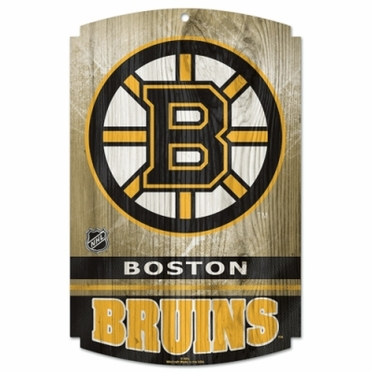 Boston Bruins Wood Sign