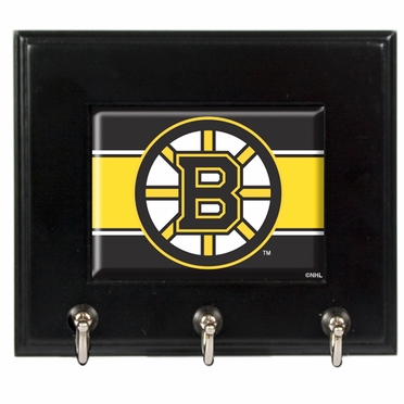 Boston Bruins Wooden Keyhook Rack