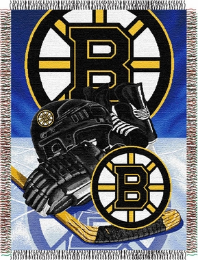 Boston Bruins Woven Tapestry Blanket