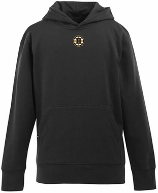 Boston Bruins YOUTH Boys Signature Hooded Sweatshirt (Team Color: Black)