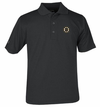 Boston Bruins YOUTH Unisex Pique Polo Shirt (Team Color: Black)