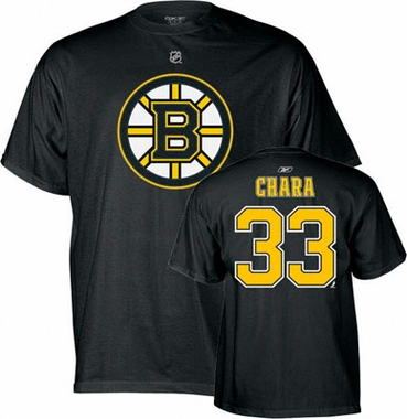 Boston Bruins Zdeno Chara Name and Number T-Shirt