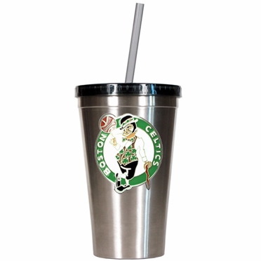 Boston Celtics 16oz Stainless Steel Insulated Tumbler with Straw