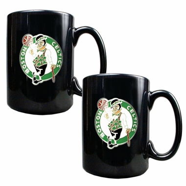 Boston Celtics 2 Piece Coffee Mug Set