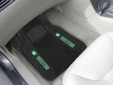 Boston Celtics 2 Piece Heavy Duty DELUXE Vinyl Car Mats