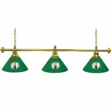 Boston Celtics 3 Shade Billiard Lamp