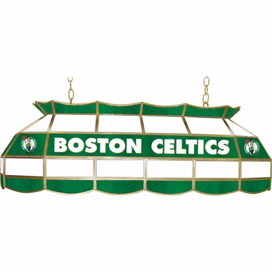 Boston Celtics 40 Inch Rectangular Stained Glass Billiard Light