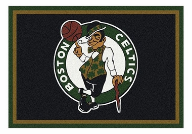 "Boston Celtics 5'4"" x 7'8"" Premium Spirit Rug"