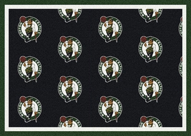 "Boston Celtics 7'8 x 10'9"" Premium Pattern Rug"