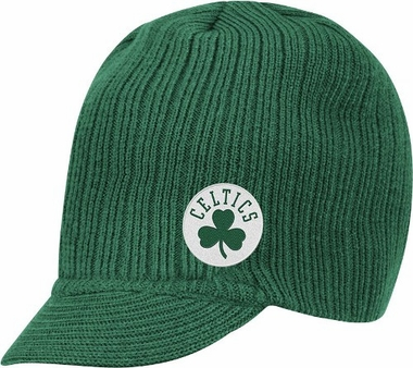 Boston Celtics Adidas NBA Green Visor Knit Hat