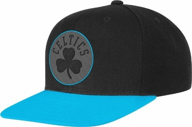 Boston Celtics Adidas Neon Brim Snap Back Hat (Blue)