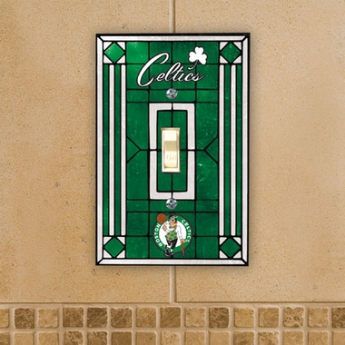 Boston Celtics Art Glass Lightswitch Cover