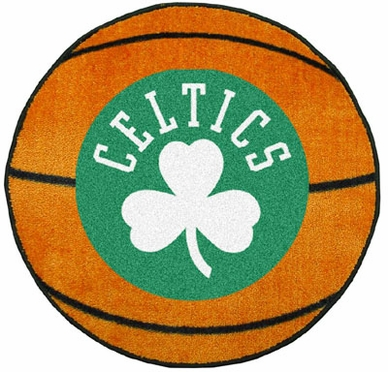 Boston Celtics Basketball Shaped Rug