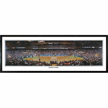 Boston Celtics Boston Garden Framed Panoramic Print