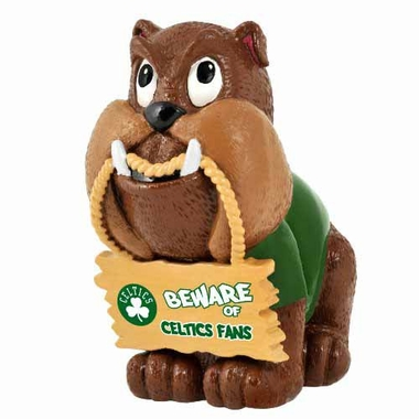 Boston Celtics Bulldog Holding Sign Figurine
