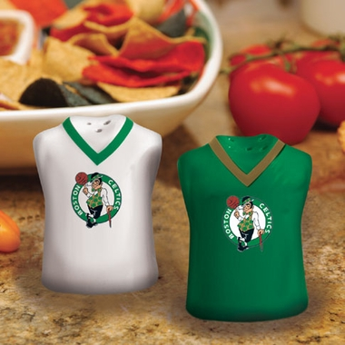 Boston Celtics Ceramic Jersey Salt and Pepper Shakers