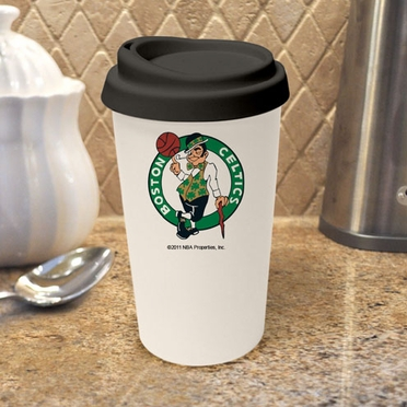 Boston Celtics Ceramic Travel Cup