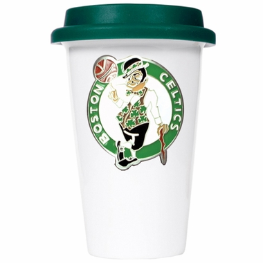Boston Celtics Ceramic Travel Cup (Team Color Lid)