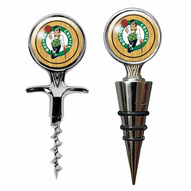 Boston Celtics Corkscrew and Stopper Gift Set